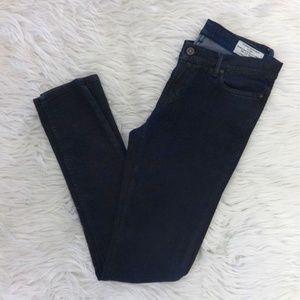 Womens AllSaints Coated Spitalfields Skinny Jeans